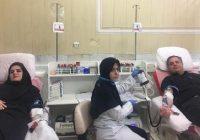 مدیر کل انتقال خون قزوین و همسر ایشان گروه جهادی بلیغ